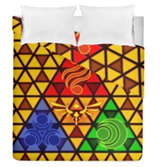 The Triforce Stained Glass Duvet Cover Double Side (queen Size)