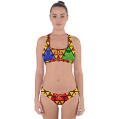 The Triforce Stained Glass Cross Back Hipster Bikini Set