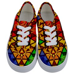 The Triforce Stained Glass Kids  Classic Low Top Sneakers