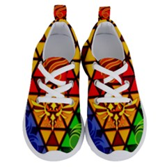 The Triforce Stained Glass Running Shoes