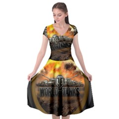 World Of Tanks Wot Cap Sleeve Wrap Front Dress