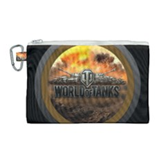 World Of Tanks Wot Canvas Cosmetic Bag (large) by Samandel