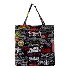 Metal Bands College Grocery Tote Bag by Samandel