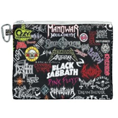 Metal Bands College Canvas Cosmetic Bag (xxl)