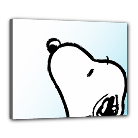 Snoopy Love Canvas 20  X 16