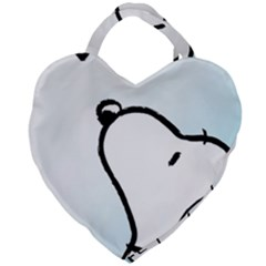 Snoopy Love Giant Heart Shaped Tote by Samandel