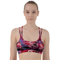 Coca Cola Drinks Logo On Galaxy Nebula Line Them Up Sports Bra