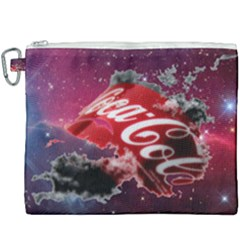 Coca Cola Drinks Logo On Galaxy Nebula Canvas Cosmetic Bag (xxxl)