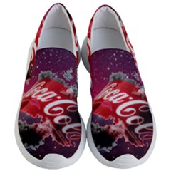 Coca Cola Drinks Logo On Galaxy Nebula Women s Lightweight Slip Ons