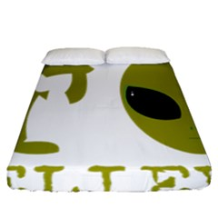 I Want To Believe Fitted Sheet (queen Size) by Samandel