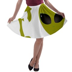 I Want To Believe A Line Skater Skirt by Samandel