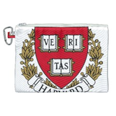Harvard University Logo Canvas Cosmetic Bag (xl) by Samandel