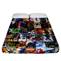 Comic Book Images Fitted Sheet (california King Size) by Samandel