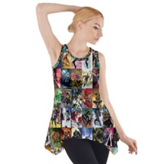 Comic Book Images Side Drop Tank Tunic