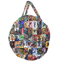 Comic Book Images Giant Round Zipper Tote