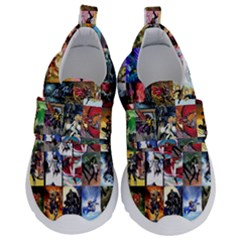 Comic Book Images Velcro Strap Shoes