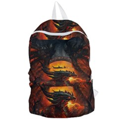Dragon Legend Art Fire Digital Fantasy Foldable Lightweight Backpack
