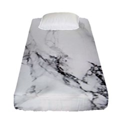 Marble Pattern Fitted Sheet (single Size) by Samandel