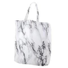 Marble Pattern Giant Grocery Zipper Tote