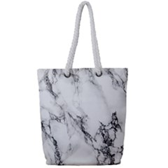 Marble Pattern Full Print Rope Handle Tote (small)
