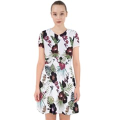 Tropical Pattern Adorable In Chiffon Dress