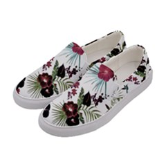 Tropical Pattern Women s Canvas Slip Ons by Valentinaart