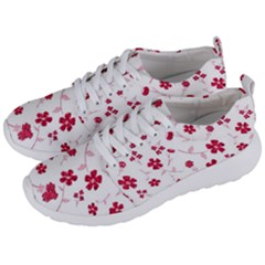 Sweet Shiny Floral Red Men s Lightweight Sports Shoes by ImpressiveMoments
