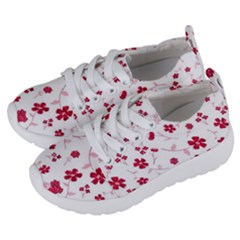Sweet Shiny Floral Red Kids  Lightweight Sports Shoes by ImpressiveMoments