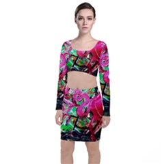 Flamingo   Child Of Dawn 9 Long Sleeve Crop Top & Bodycon Skirt Set