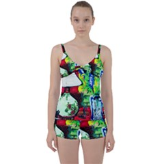 Lilack, Lamp And Curtain Window 3 Tie Front Two Piece Tankini