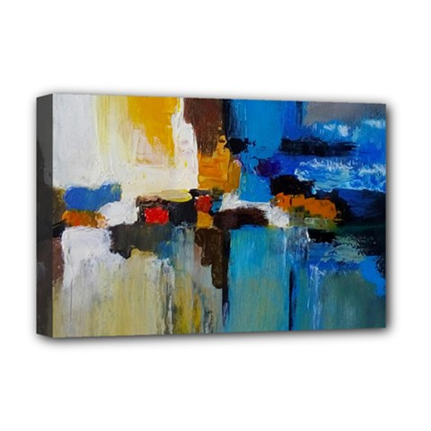 Abstract Deluxe Canvas 18  X 12   by consciouslyliving