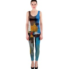 Abstract One Piece Catsuit