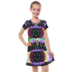 Social Media Rave Apparel Kids  Cross Web Dress by TheExistenceOfNeon2018