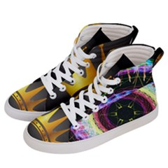 Crowned Existence Of Neon Women s Hi Top Skate Sneakers by TheExistenceOfNeon2018