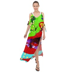 Untitled Island 4 Maxi Chiffon Cover Up Dress by bestdesignintheworld