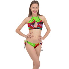 Untitled Island 4 Cross Front Halter Bikini Set