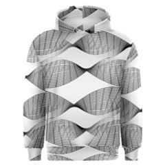 Curves Pattern Black On White Men s Overhead Hoodie by CrypticFragmentsColors
