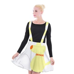 Mutt Dog Animal Domestic Vector Suspender Skater Skirt