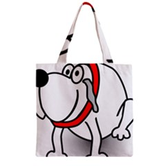 Dog Animal Pet Grin Sit Happy Zipper Grocery Tote Bag