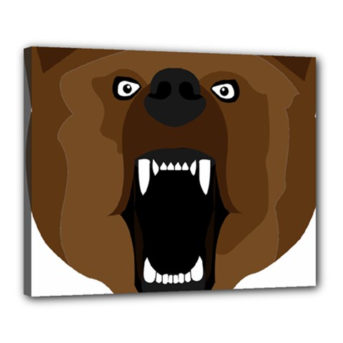 Bear Brown Set Paw Isolated Icon Canvas 20  X 16