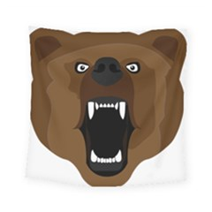 Bear Brown Set Paw Isolated Icon Square Tapestry (small) by Nexatart