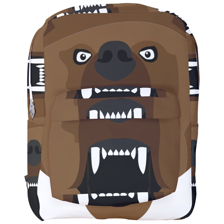 Bear Brown Set Paw Isolated Icon Full Print Backpack