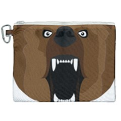 Bear Brown Set Paw Isolated Icon Canvas Cosmetic Bag (xxl)