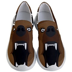 Bear Brown Set Paw Isolated Icon Women s Lightweight Slip Ons