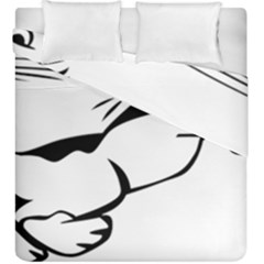 Dog Leash Lead Running Animal Duvet Cover Double Side (king Size) by Nexatart
