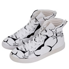 Dog Leash Lead Running Animal Women s Hi Top Skate Sneakers by Nexatart