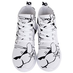 Dog Leash Lead Running Animal Women s Lightweight High Top Sneakers