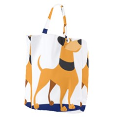 Stub Illustration Cute Animal Dog Giant Grocery Zipper Tote