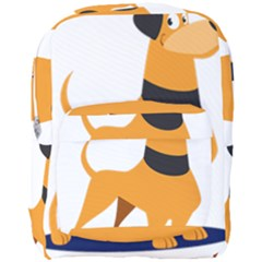 Stub Illustration Cute Animal Dog Full Print Backpack by Nexatart