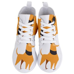 Stub Illustration Cute Animal Dog Women s Lightweight High Top Sneakers